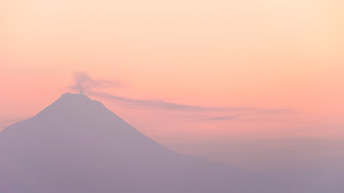 pink mountain misty clouds sunrise landscape volcano java paint sony telephoto merapi sal70300g sonya7 merupi