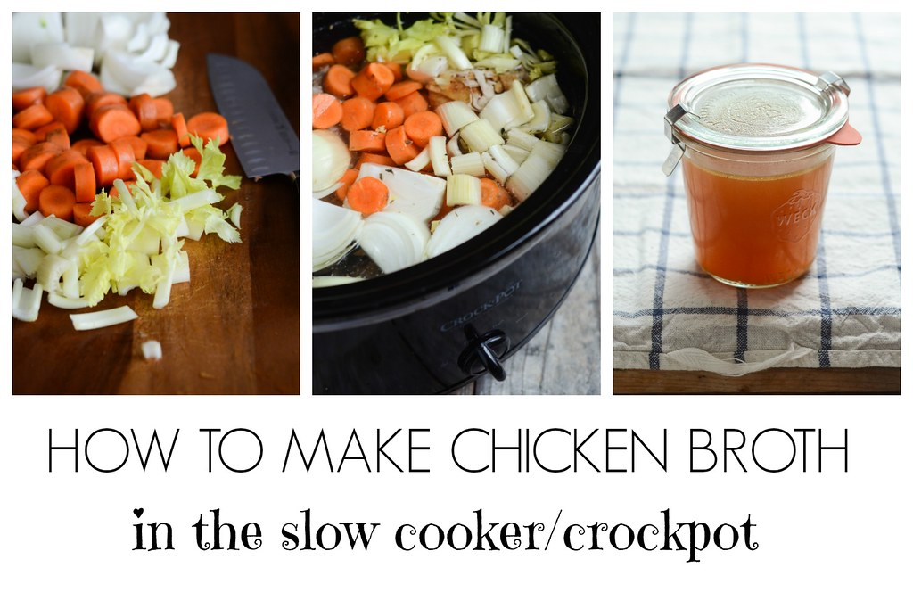 How to Make Chicken Broth in the Crockpot