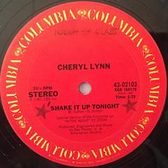 CHERYL LYNN:SHAKE IT UP TONIGHT(LABEL SIDE-A)