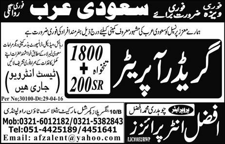 Grader Operator Jobs in Saudi Arabia 2016