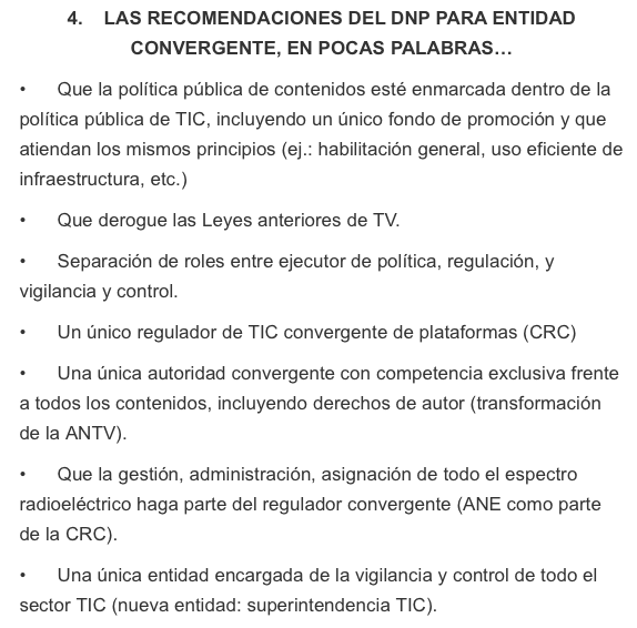 DNP recomendaciones