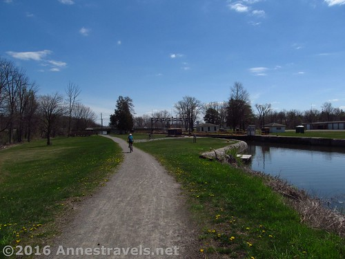 Approaching Lock 30 and Macedon Canal Park on the Erie Canal Path, New York