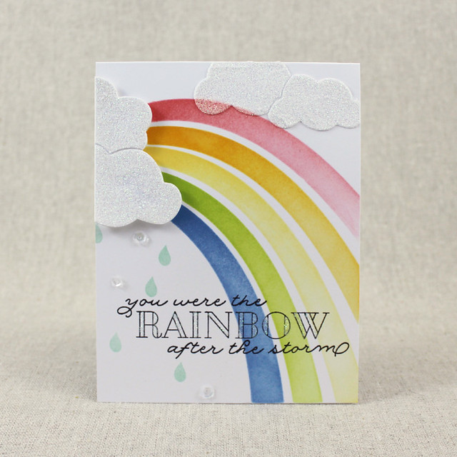 Rainbow After The Storm Card