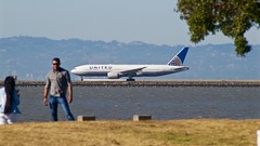Airliner photos in context, part 3. United Boeing 777-200, N784UA, at SFO P1013531