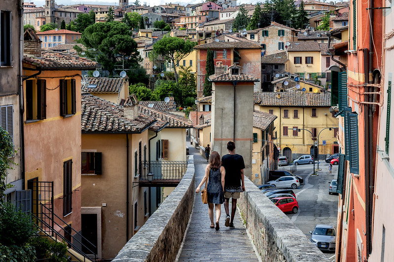A walk in Perugia