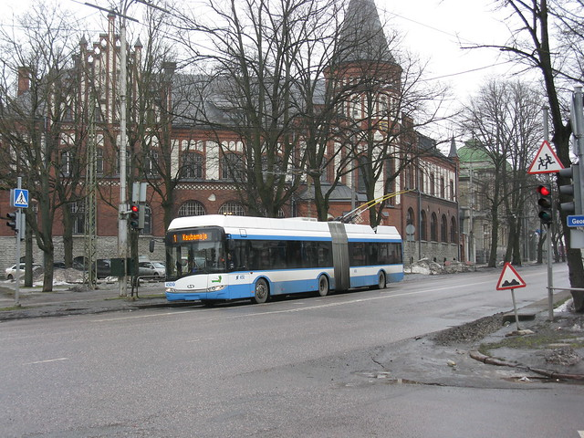 Tallinn, Estonia - trams and trolleybuses, March 2012