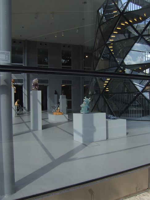 art made of glass on display