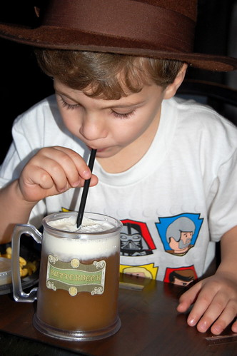 Clark enjoying his Butterbeer.