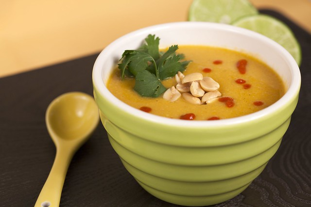 Sweet Potato and Peanut Soup (Vegan)