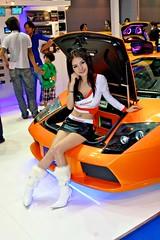 Sexy model selling sound equipment at the 32nd Bangkok Motorshow