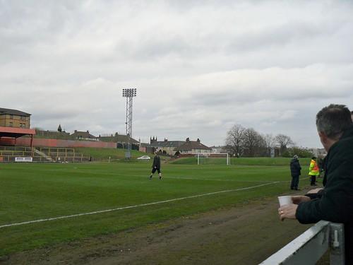 East end, Cliftonhill Stadium, Coatbridge.