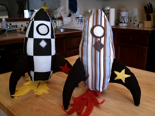 Rocket ship pillows my Mother in Law made