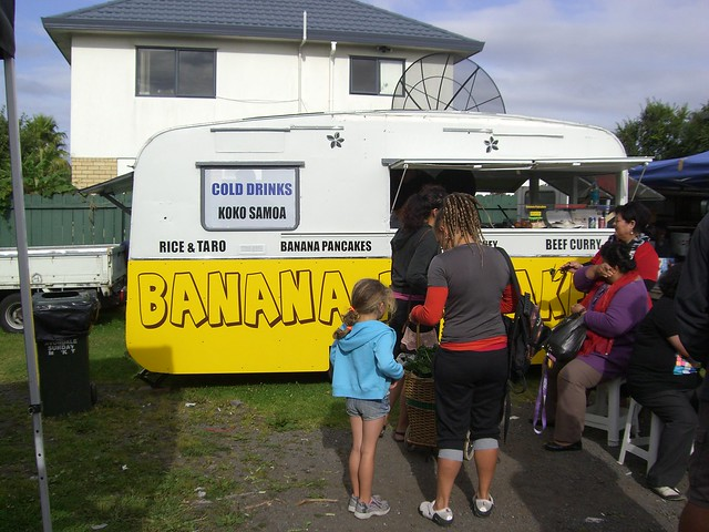 Samoan food van at Avondale Market