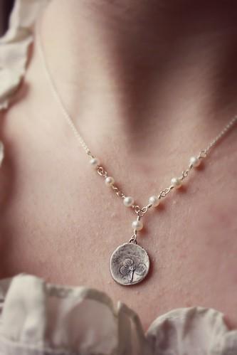 Petite Hydrangea Blossom Necklace