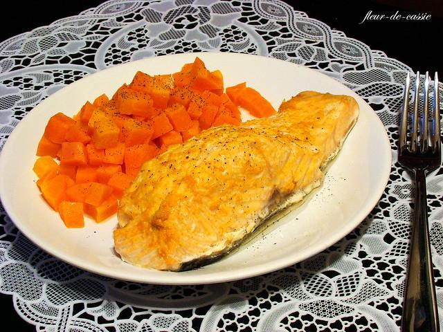 лосось с морковью и апельсином на пару 1