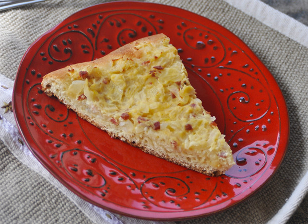 Savory Pancetta and Onion Tart