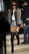 Rihanna Patterned Tights Celebrity Style Woman's Fashion