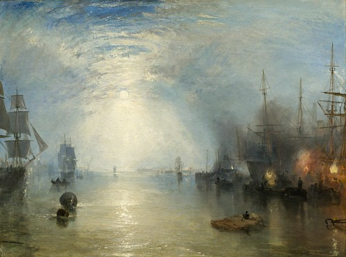 Joseph Mallord William Turner - Keelmen Heaving in Coals by Moonlight [1835] by Gandalf's Gallery