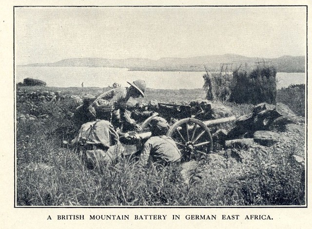 14. Indian Army Mountain Battery gunners in German East Africa