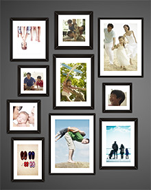 Capture family moments in one of four themes.