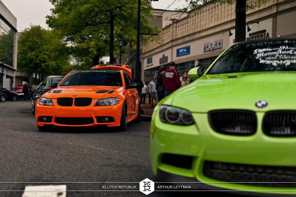 e92 m3 orange and green low