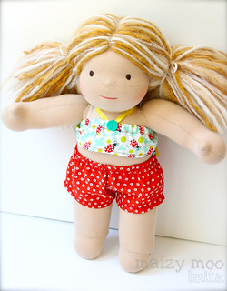 "Lady Bug Bathing Suit for 15"" Dolls (FREE SHIPPING)"