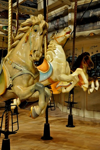 Carousel Horses 2 PTC 18 Syracuse NY