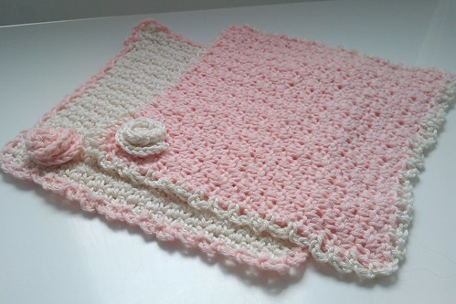 Crochet cotton face cloths