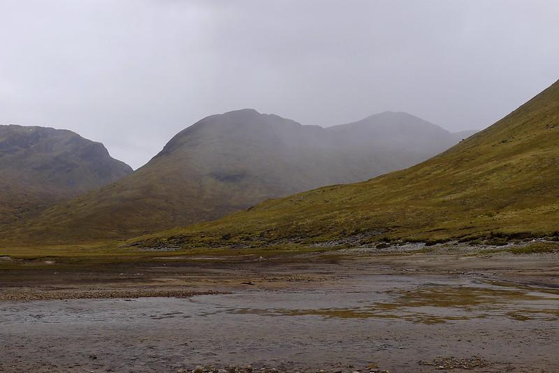 Rain over Beinn Tharsuinn