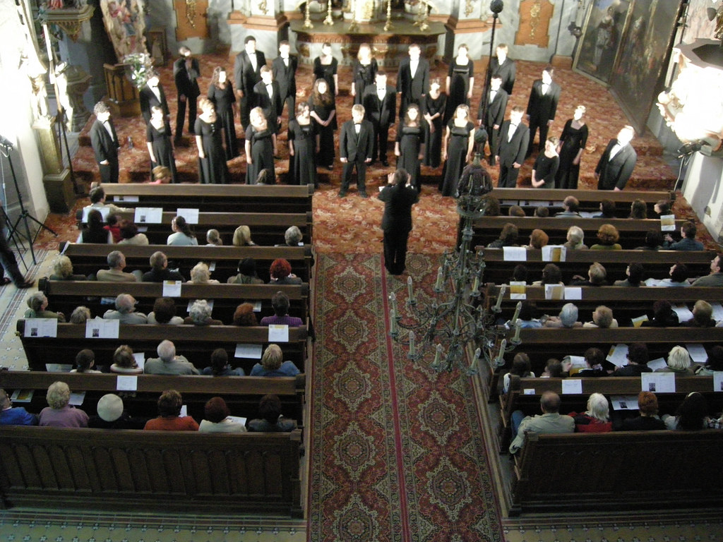 University of Southern Maine Chamber Singers performs in St. Catherine's Church in Banska Stiavnica, Slovakia