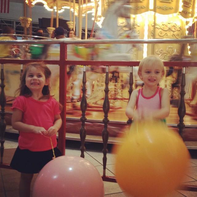 carousel & punching balloons