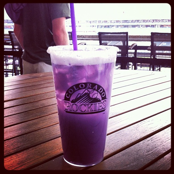 Purple margarita. Go #Rockies!!!