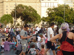 Indignados en Plaza Cataluña
