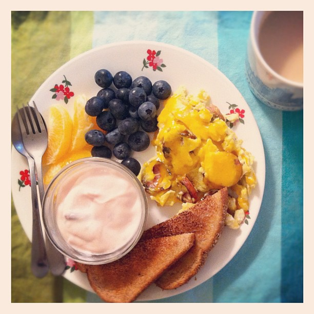 Breakfast in bed! Happy Mother's Day!