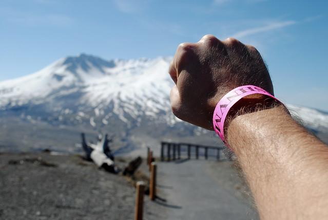 the pink wrist band - Johnston Ridge Observatory - Mt. St. Helens