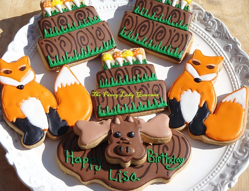 woodland birthday cookies for lisa
