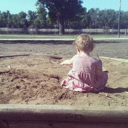 May 14. The sandbox overlooks the Missouri river.