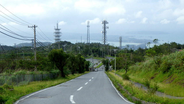 A BEAUTIFUL ANTENNA FARM ENHANCES THE VIEW on the Way Back from Okinawa's Latest ABANDONED HOTEL
