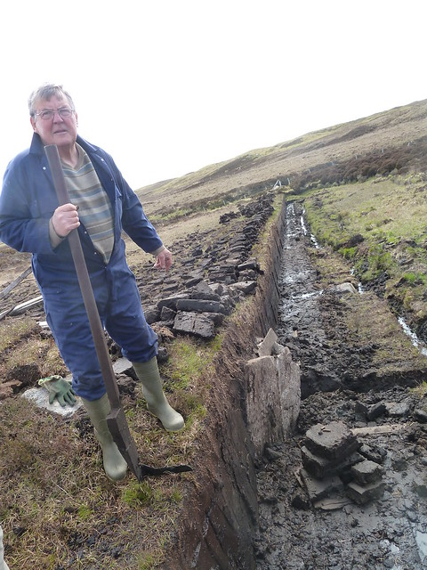 Freshly Cut Peat Bank, Hebrides