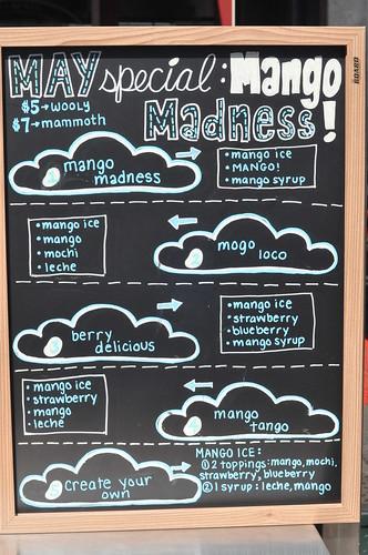 Mango Madness Menu