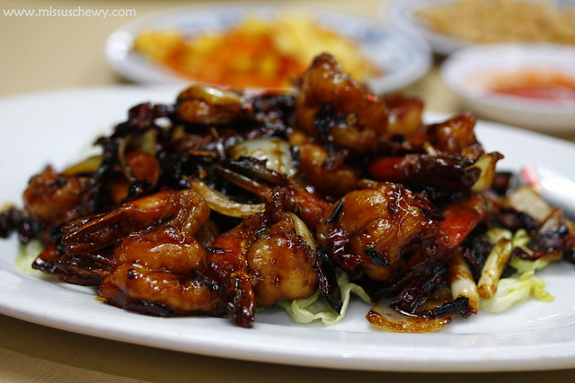 Kung Pao Shell-less Prawns @ $24, $30, $40