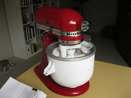 Kitchenaid with Ice Cream attachment