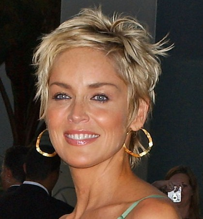Sharon-Stone-short-pixie-haircut | Flickr - Photo Sharing!