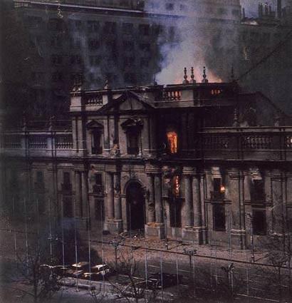 incendio de La Moneda 11 septiembre de 1973
