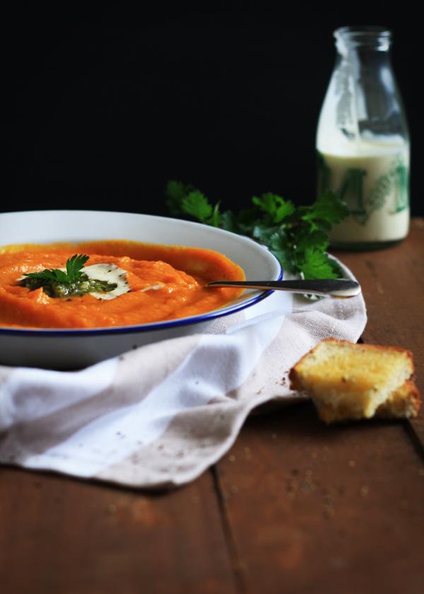 gluten free scallywag tomato pumpkin soup