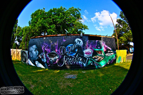 DJ Screw Memorial Wall by Sode KWS BY