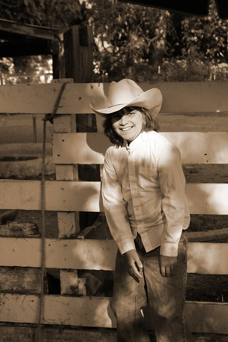 L at farm sepia