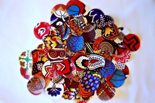 African Wax Print Circles