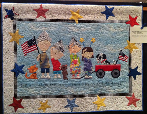 For The Brave Quilt~ 4th of July Kids~ Barbara Shates