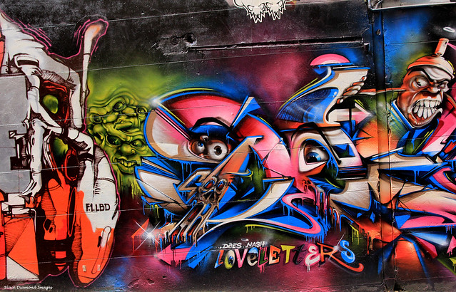 'Loveletters' - Street Art, Melbourne, Victoria